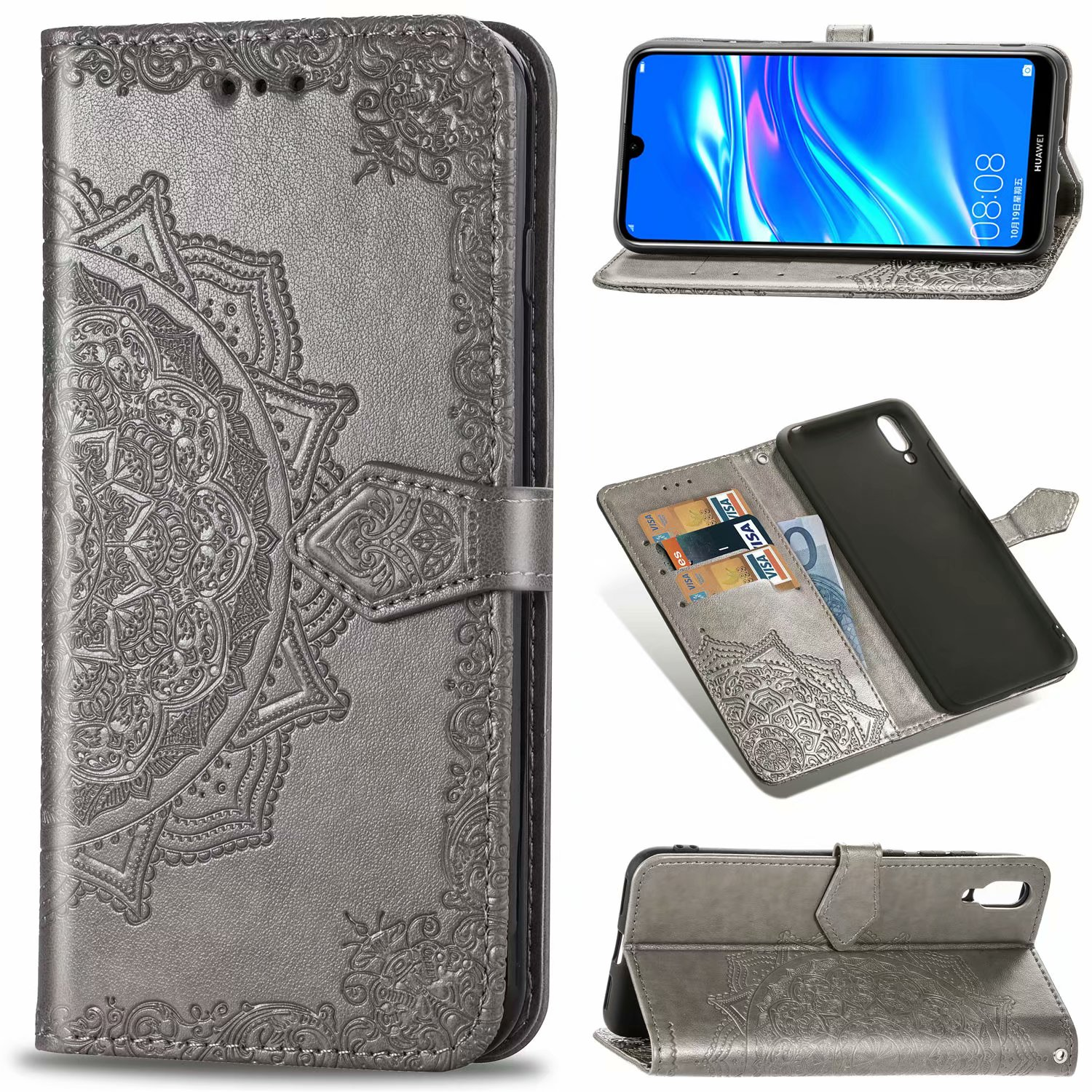 online store 65ad2 c7b8c Details about For Huawei Y7 Pro / Y7 Prime(2019)Magnetic Leather Flip  Wallet Stand Case Cover