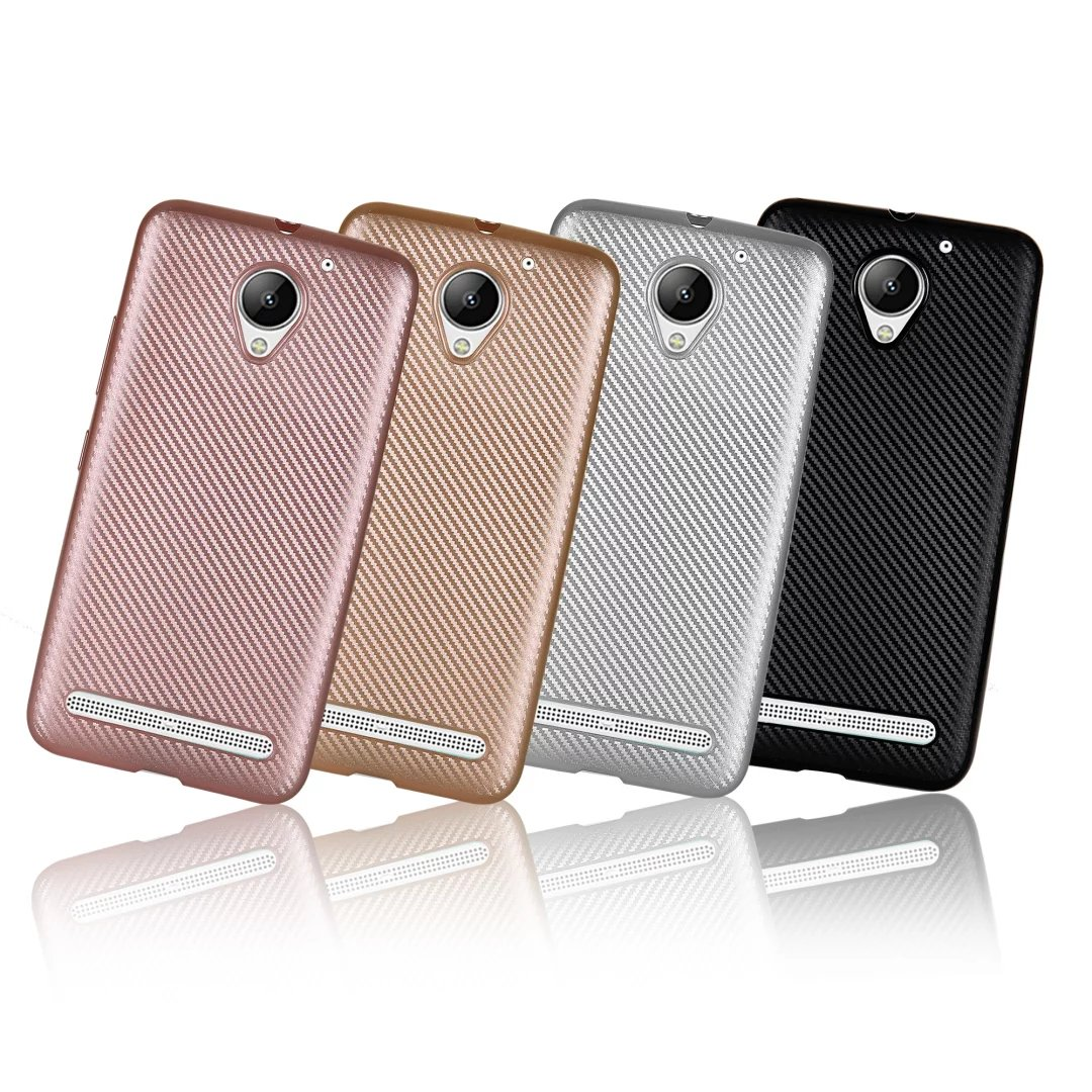 Synthetic Fiber Carbon Plastic Back Cover Case For Lenovo Vibe S60 Softcase Soft Jelly C2 K10a40