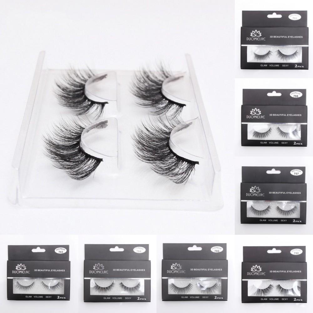 21eb030ba95 Details about 2Pair Faux Mink Natural False Eyelashes Volume Long Eye Lashes  Extension Makeup