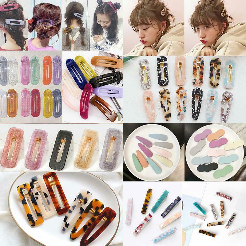 Ins Hot Cute Women Vintage Acetate Hair Clip Hair Pin Bobby Hair Comb Barrettes