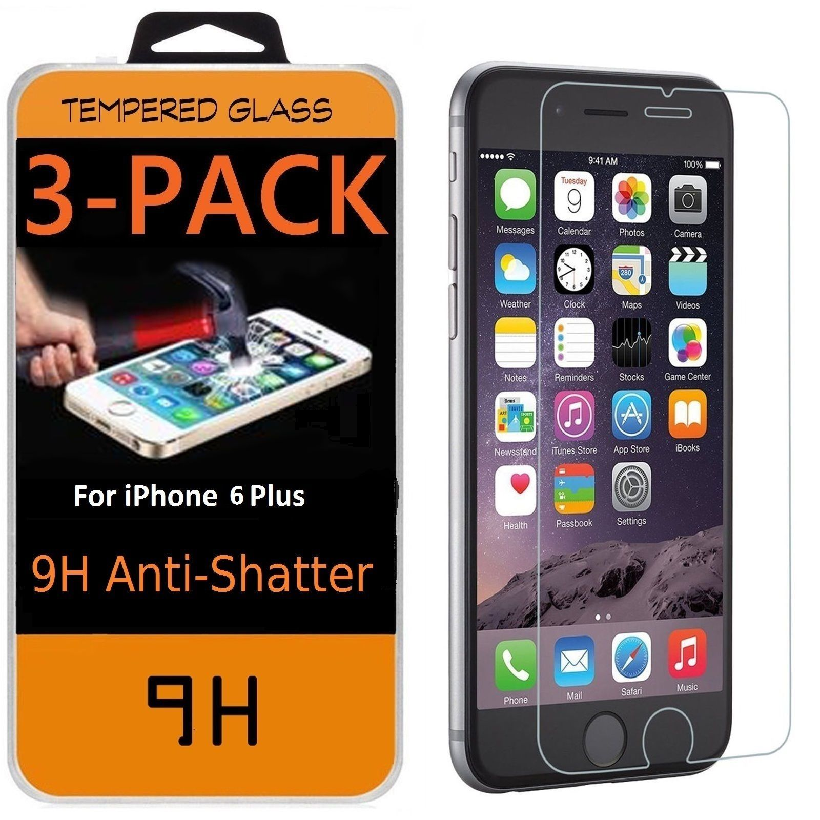 Premium Real Tempered Glass Screen Protector Film For IPhone 10 X 7 8 Plus 6 6s