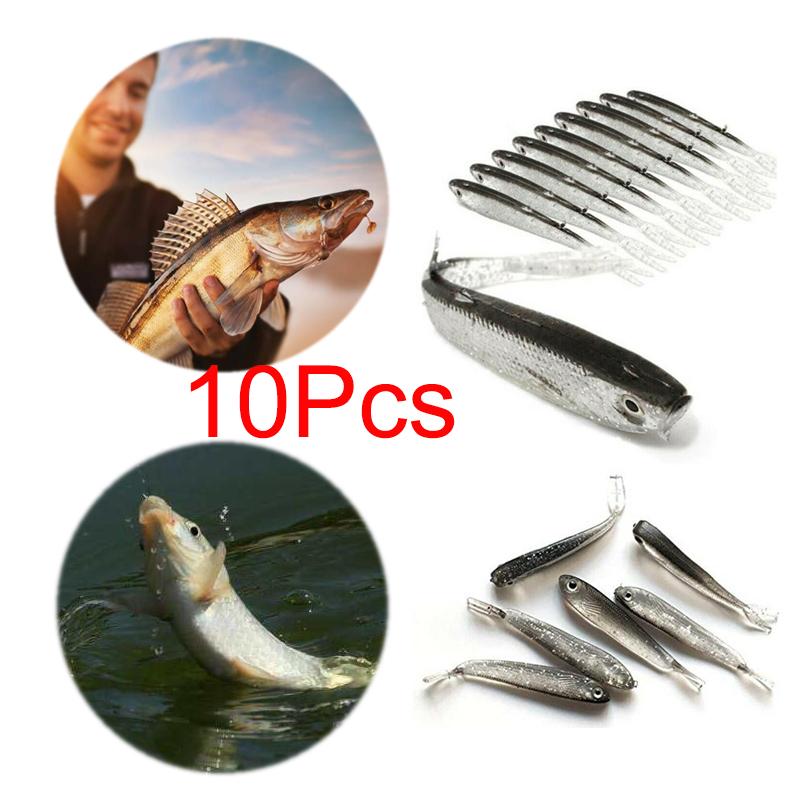 Perch//Pike//Chub Useful 10pcs LRF Soft Real Minnow Bait Drop Shot Fishing Lure