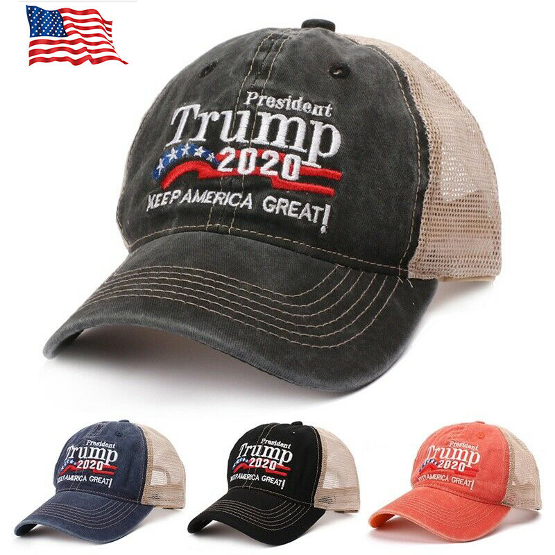 Trump Hat Keep America Great 2020 Campaign Mesh Hat Adjustable Baseball Cap S-O