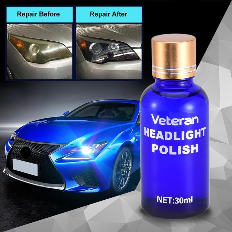 Auto Headlamp Polishing: 30ml Car Headlight Restoration Kit Auto Lamp Lenses Repair