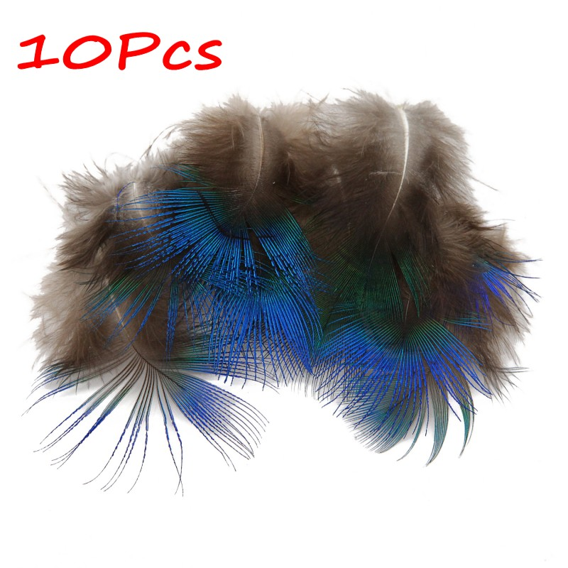 """40PCS Peacock Blue Plumage Feathers 4-7 cm//2-3/"""" for Crafts Feather Trimmings"""