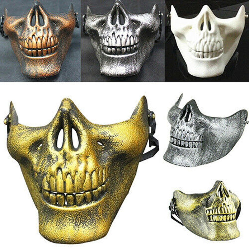 Halloween Mask Cosplay Skull Skeleton Half Face Mask Party Protect Gear Guard US