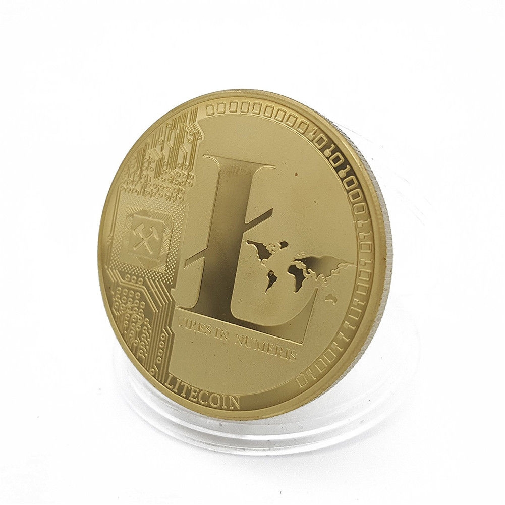 Silver Plated Commemorative Litecoin Collectible Golden Iron Miner Coin Gift XN9