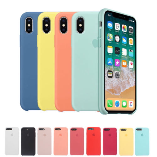 Silicone Back Case for Apple iPhone