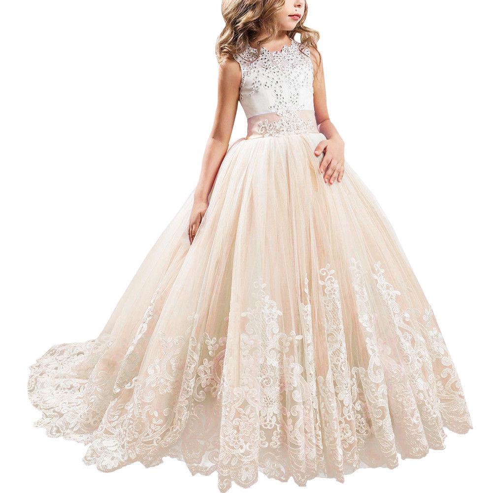 Mädchen Kleid hochzeit prinzessin Kinder festkleid blumenmädchen ...