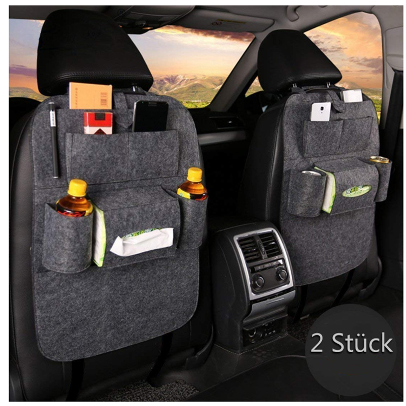 2X Autositz Rücksitztasche Auto Organizer Multi Tasche Tasche Rücklehnentasche