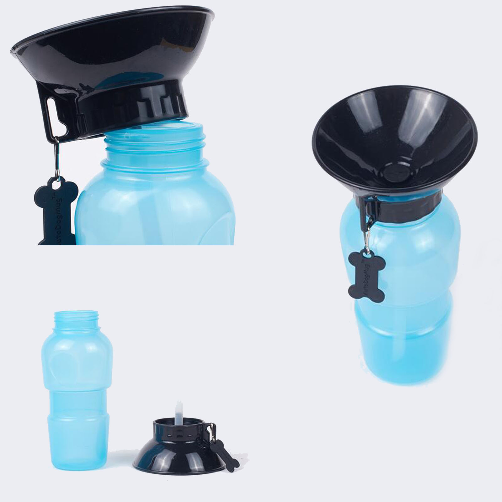 haustiere outdoor trinkflasche wasserspender wasserflasche reisenapf hunde ebay. Black Bedroom Furniture Sets. Home Design Ideas