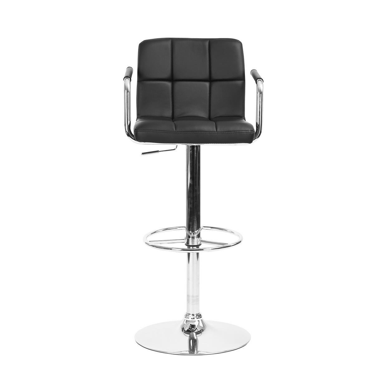tabouret de bar contemporain simili m tal chrom repose. Black Bedroom Furniture Sets. Home Design Ideas