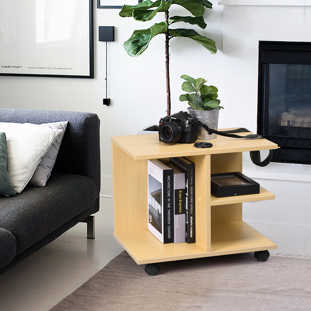 Meuble T L Tv Table Basse D Appoint Chevet Roulettes Etag Re  # Table Tele Etagere