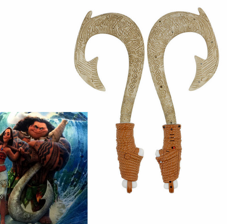 Uk magic maui light up sound fish hook moana waialiki maui for Maui s magical fish hook