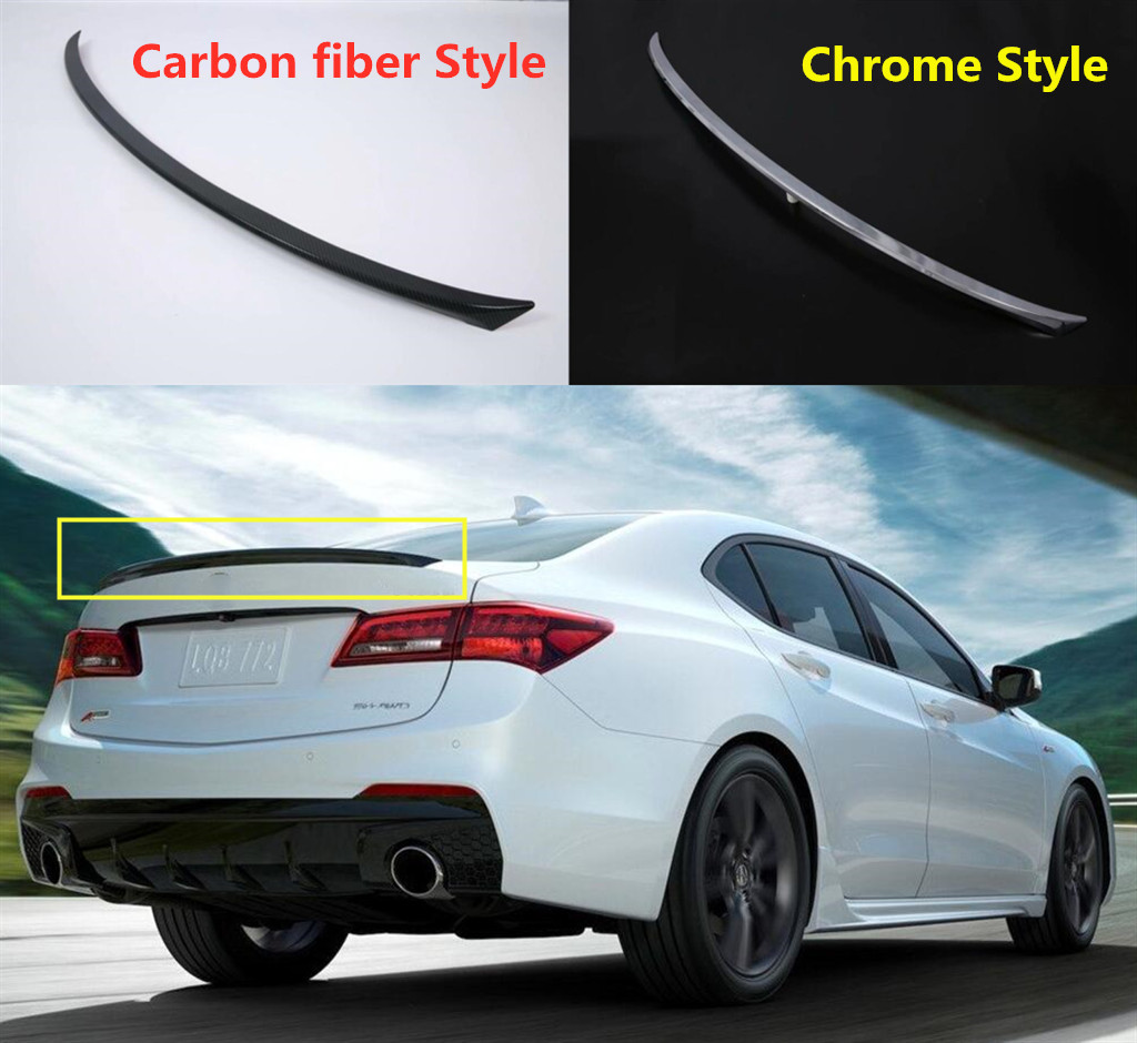 ABS FIT For 2015- 2020 Acura TLX Rear Tail Trunk Spoiler