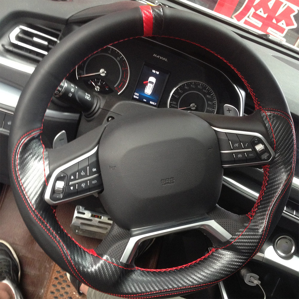 """Car Steering Cover PU Leather Steering Wheel Cover 15/""""//38CM For Buick Chevy Ford"""