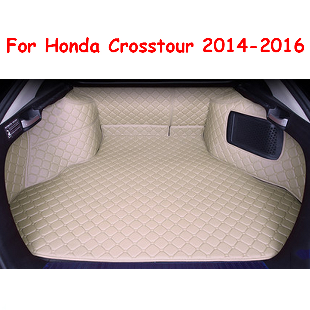 Trunk mat fit for honda crosstour 2014 2016 cargo boot liner auto car waterproof