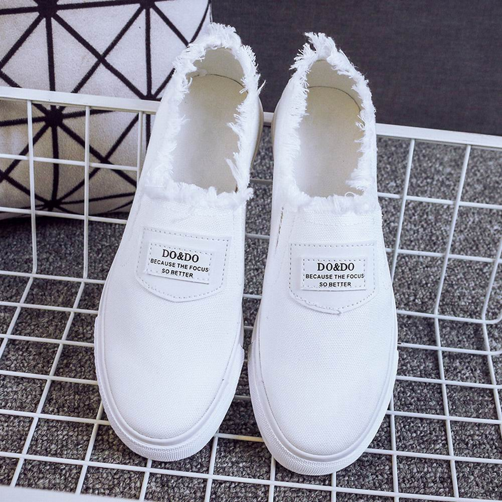 dada51bba0a3 Details about Women Classic Canvas Slip-on Flats Casual Shoes Soft Lazy  Shoes Loafers Sneakers