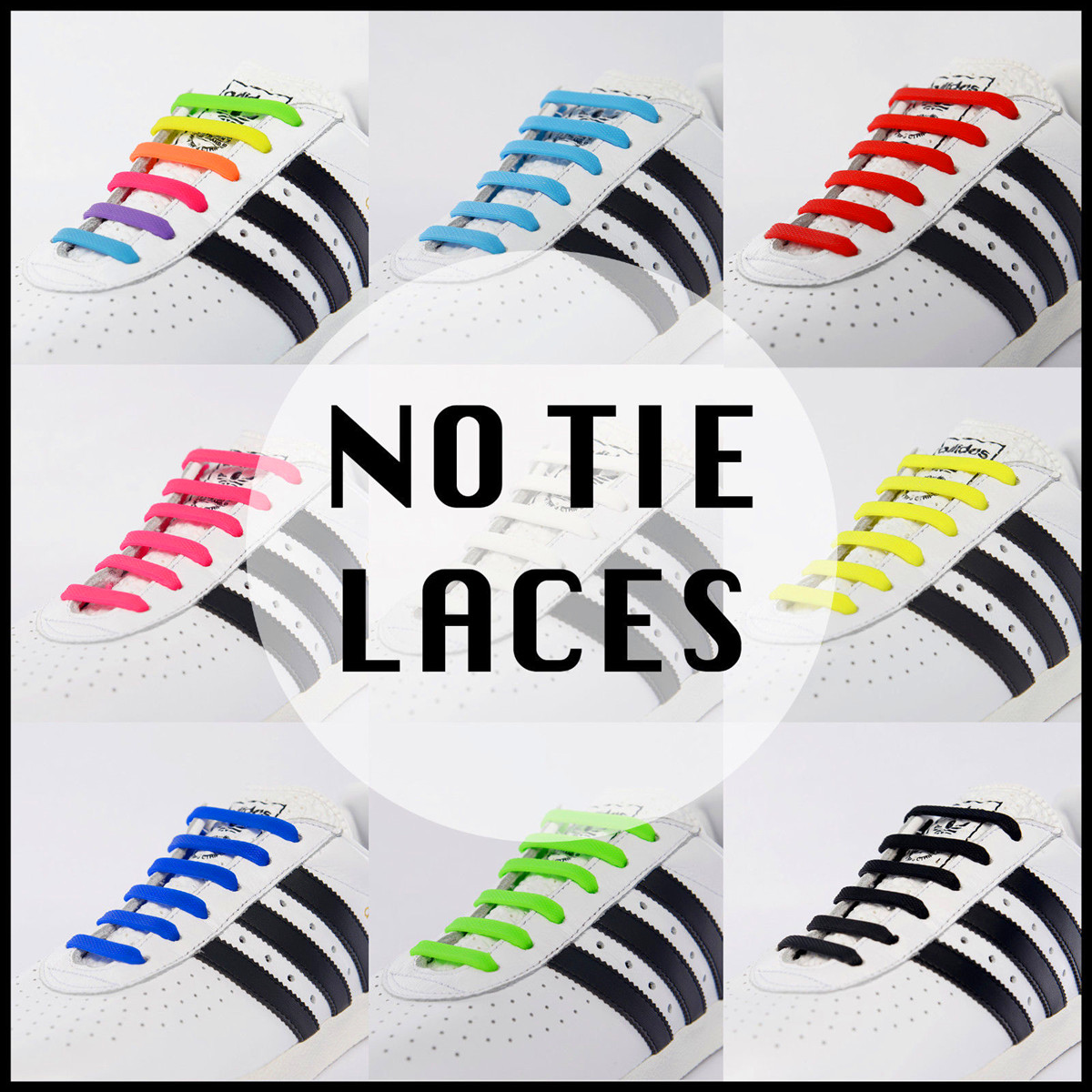16pcs Easy Brown Shoelaces Elastic Silicone Flat Shoe Lace Set for Kids Adult