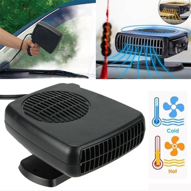 Upgrade 2 in 1 12V Portable Car Heater Cooling Fan Heater Defroster Demister
