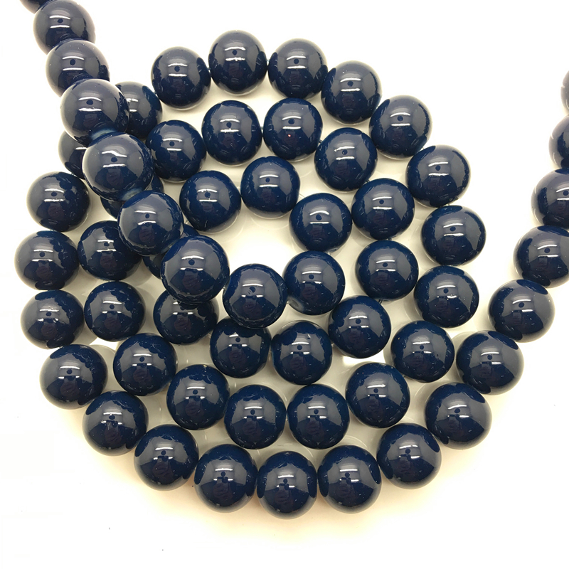 NEW 30PCS 8mm Glass Round Pearl Spacer Loose Beads Pattern Jewelry Making 20
