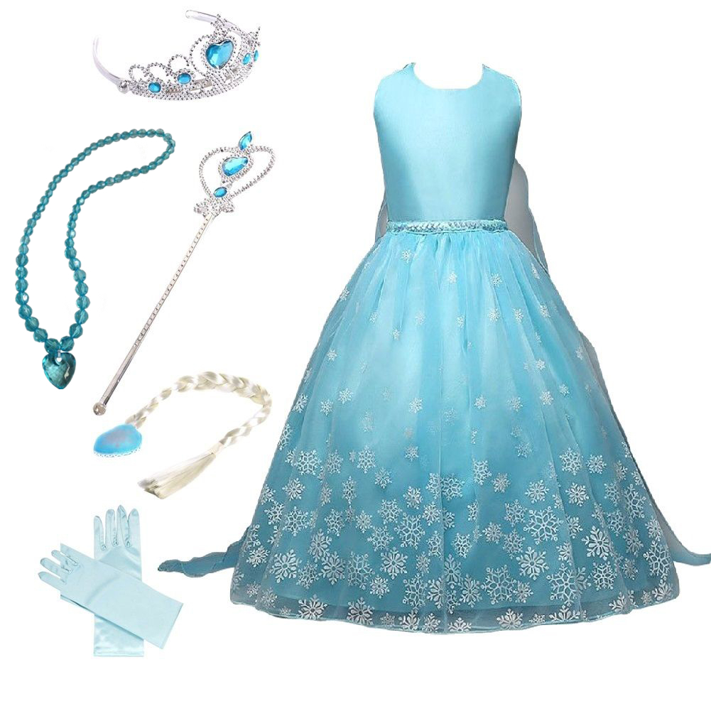Frozen Snow Queen Anna Elsa Princess Party Dress Costume with ...