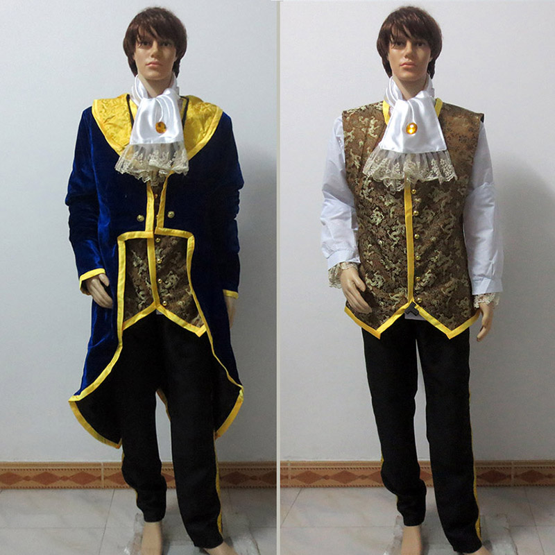 Customized Beauty And The Beast Prince Adam Costume Wedding Tuxedo