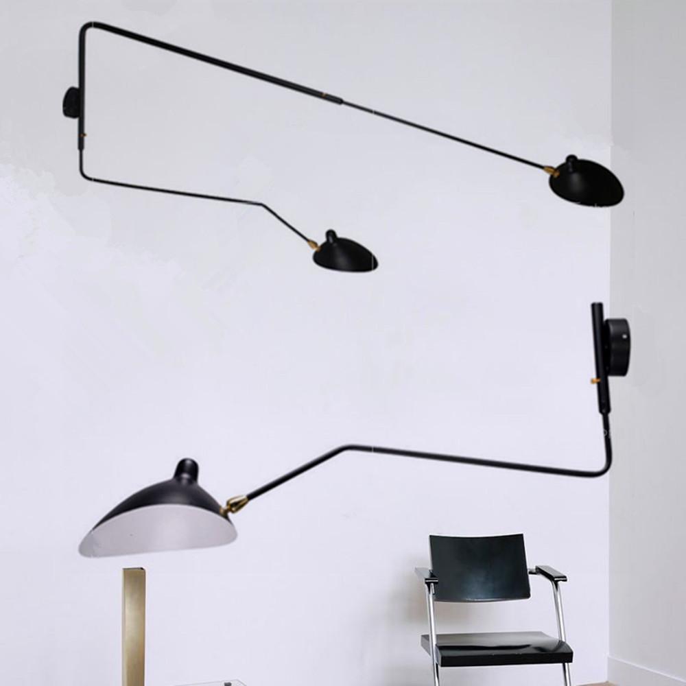 long wall sconce lighting. Long Serge Mouille Arm Rotating Wall Sconce Light Lamp Bar Lighting Modern L