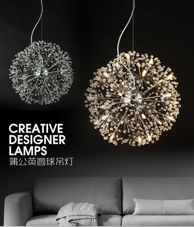 LED Dandelion Pendant Lamp Flower Ceiling Lamp Chandelier New Modern Home  Decor