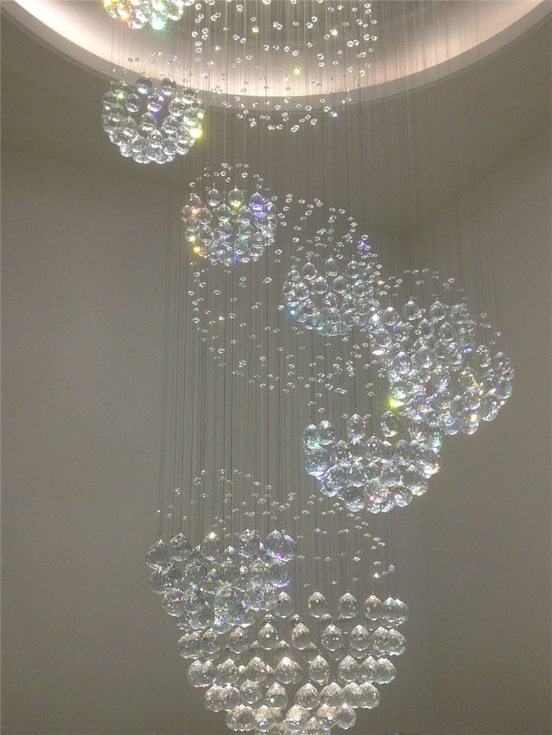 Crystal chandelier rain drop with 11 crystal sphere ceiling light crystal chandelier rain drop with 11 crystal sphere ceiling light fixture modern arubaitofo Images