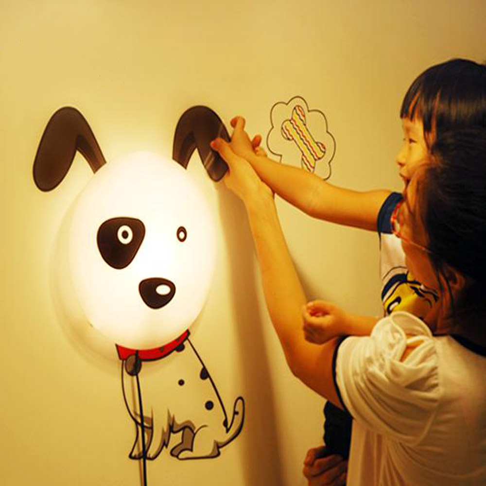 Cartoon Dalmatians Dog LED Night Light DIY 3D Wallpaper Wall ...