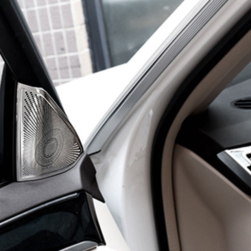 Benz E-Class W212 2010 Except 2door Chrome Front Door Stereo Speaker frame cover