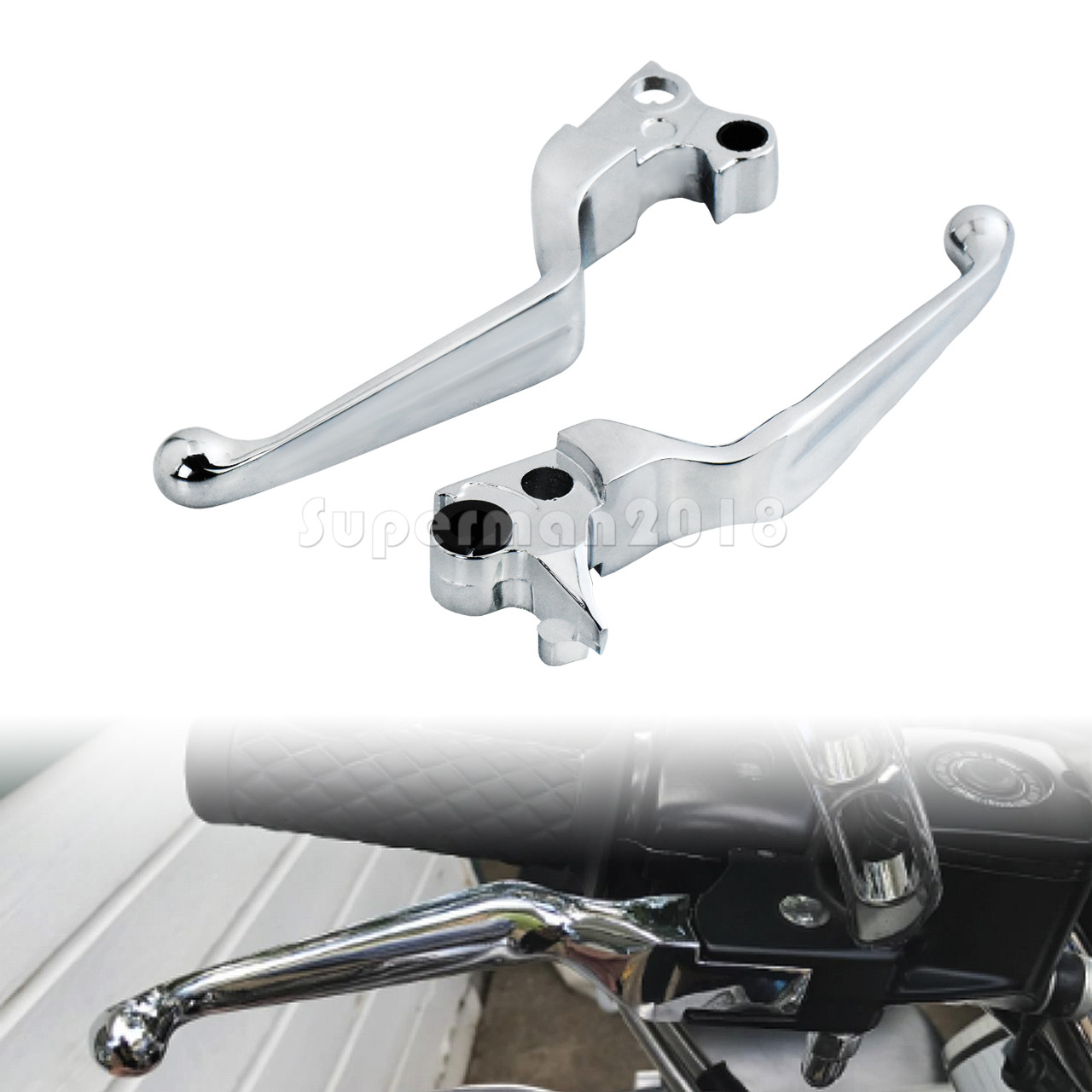 CNC Clutch Brake Lever for harley softail fatboy 96-14 Touring Sportster 96-03