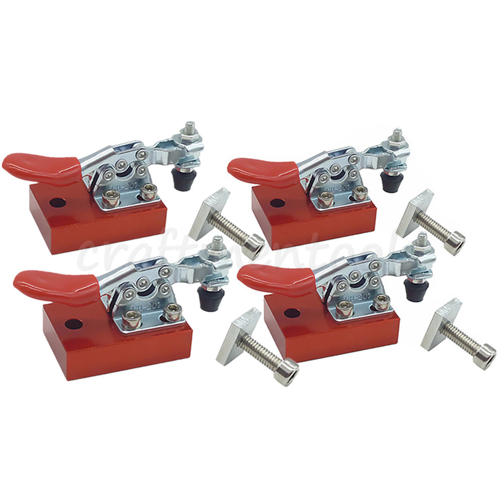 4PC Engraving Machine Fastening Platen CNC Router Fixture Quick Clamp Plate Hold