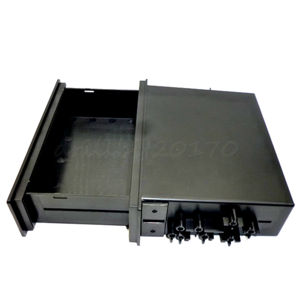 Universal Single Din Car Auto Radio Install Mount Pocket Dash Kit Wiring Harness Storage Box Layer Trim Plastic