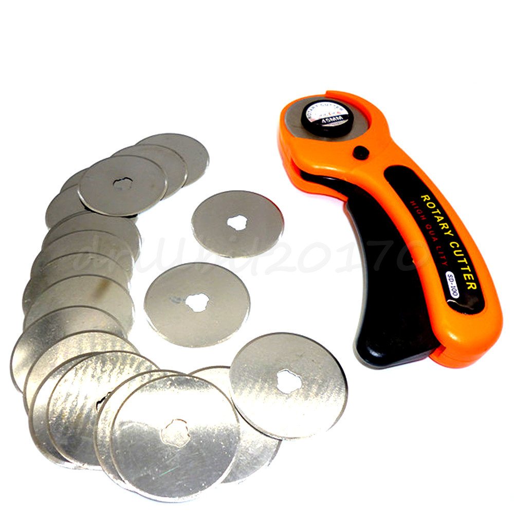 20pcs 28mm Rotary Cutter Blades Refill Blade /& 28mm Rotary Cutter Patchwork Cut