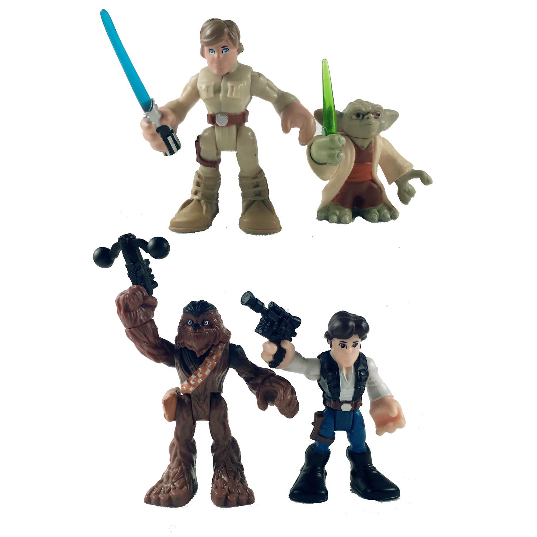 Playskool Star Wars Galactic Heroes Jedi Force Han Solo and Chewbacca