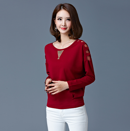 Womens-Ladies-Fashion-Casual-Loose-Long-Sleeve-Tunic-T-Shirt-Blouse-Top-New-Plus thumbnail 19