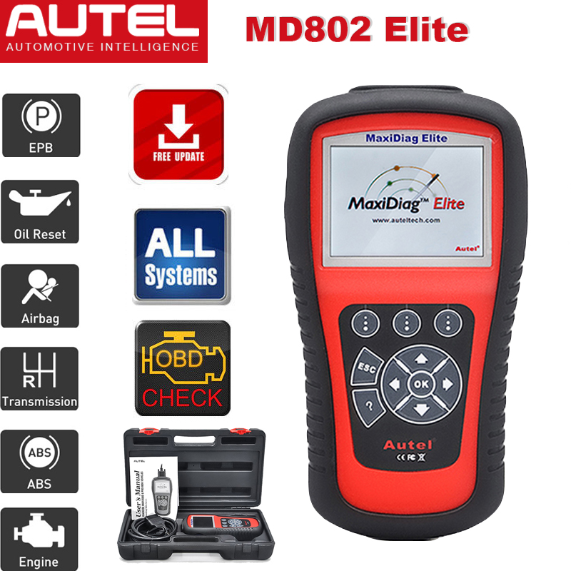 autel md802 obd2 auto diagnostic scanner diagnostique voiture tout le syst me ebay. Black Bedroom Furniture Sets. Home Design Ideas