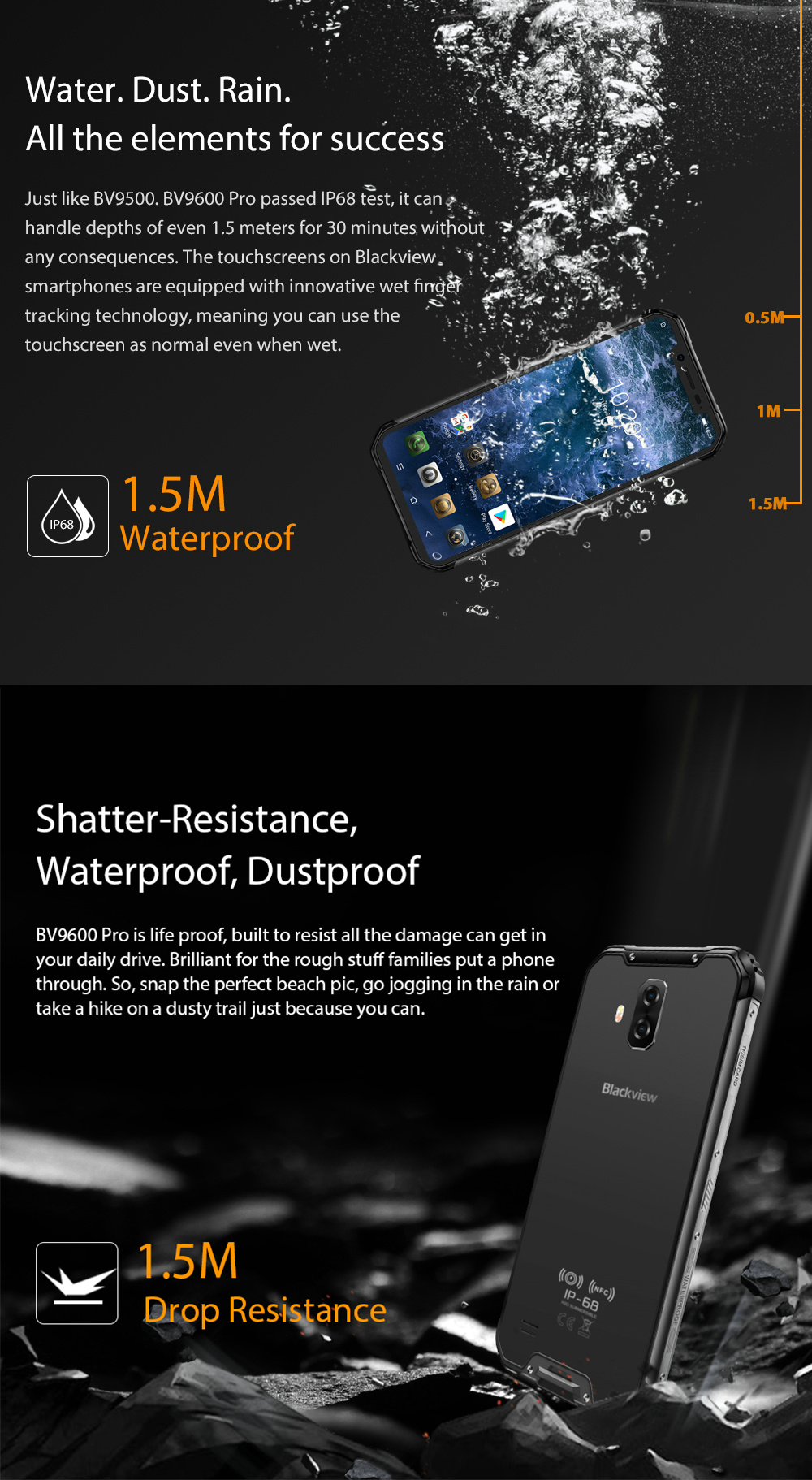 Details about Blackview BV9600 Pro IP68 Waterproof Mobile 6 21