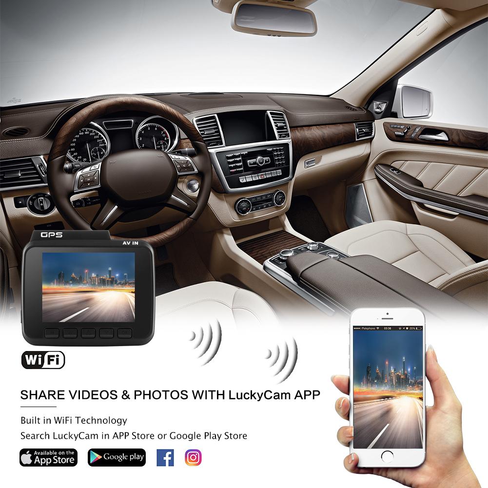 WiFi Dashcam mit GPS und Loop-Aufnahme GS63H AZDOME Autokamera mit 4K Aufl/ösung Dash Camera mit G-Sensor Dash Cam mit 170/° Weitwinkelobjektiv und Nachtsicht Parkmonitor und Bewegungserkennung