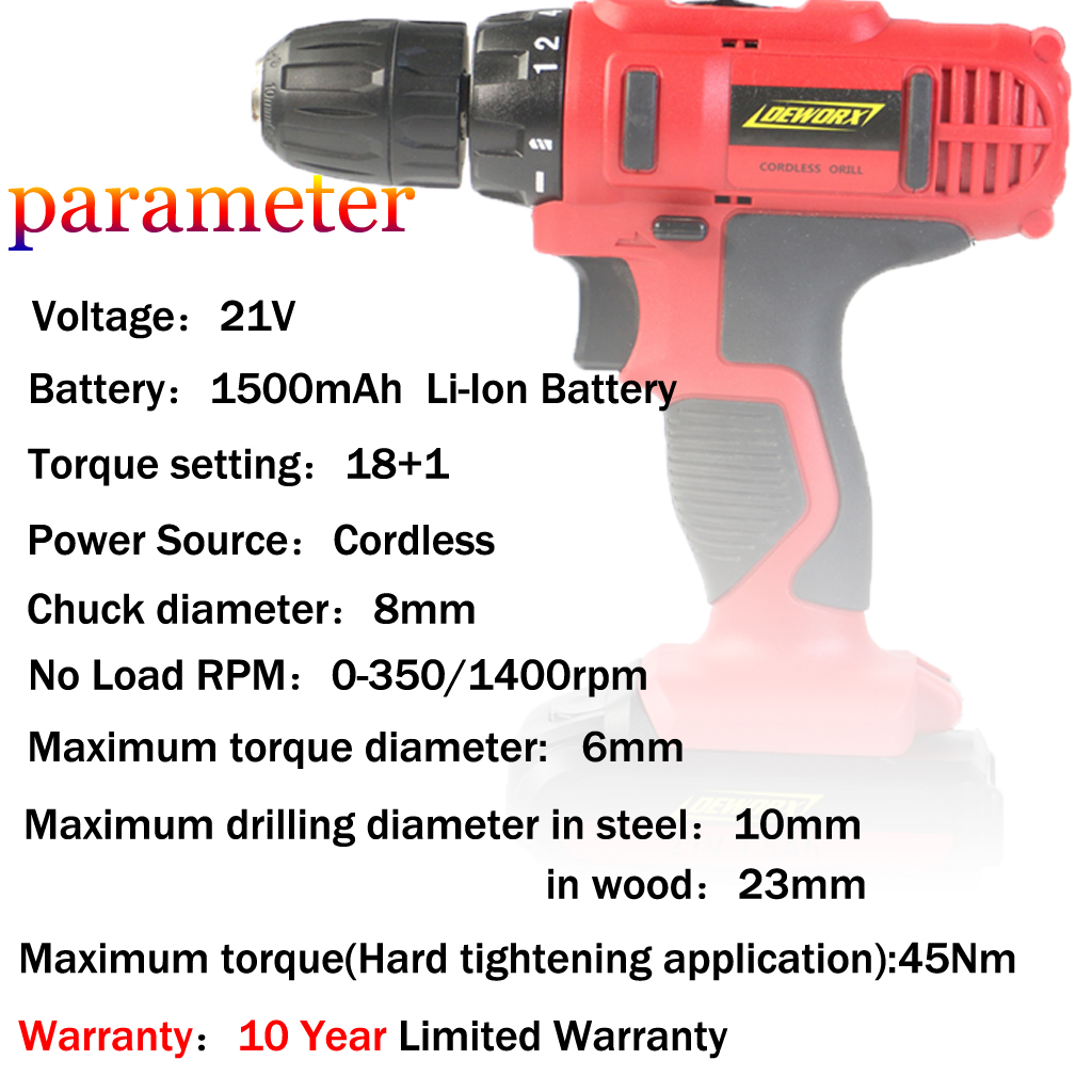 NEW IMPACT DRILL DRIVER 45 Nm MAX TORQUE 29PCS TWO LI-ION