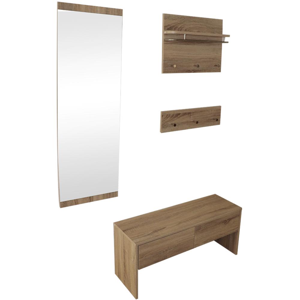 garderobenset flurgarderobe set spiegel wandgarderobe flurm bel paneel 4 teilig ebay