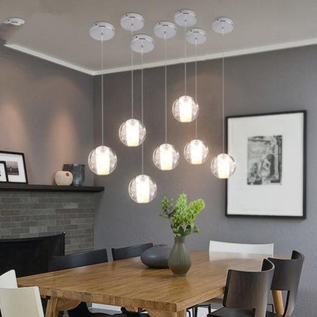 LED Glass Ball Chandelier Interior Pendant Lamp Ceiling Light Drop Light Fixture eBay