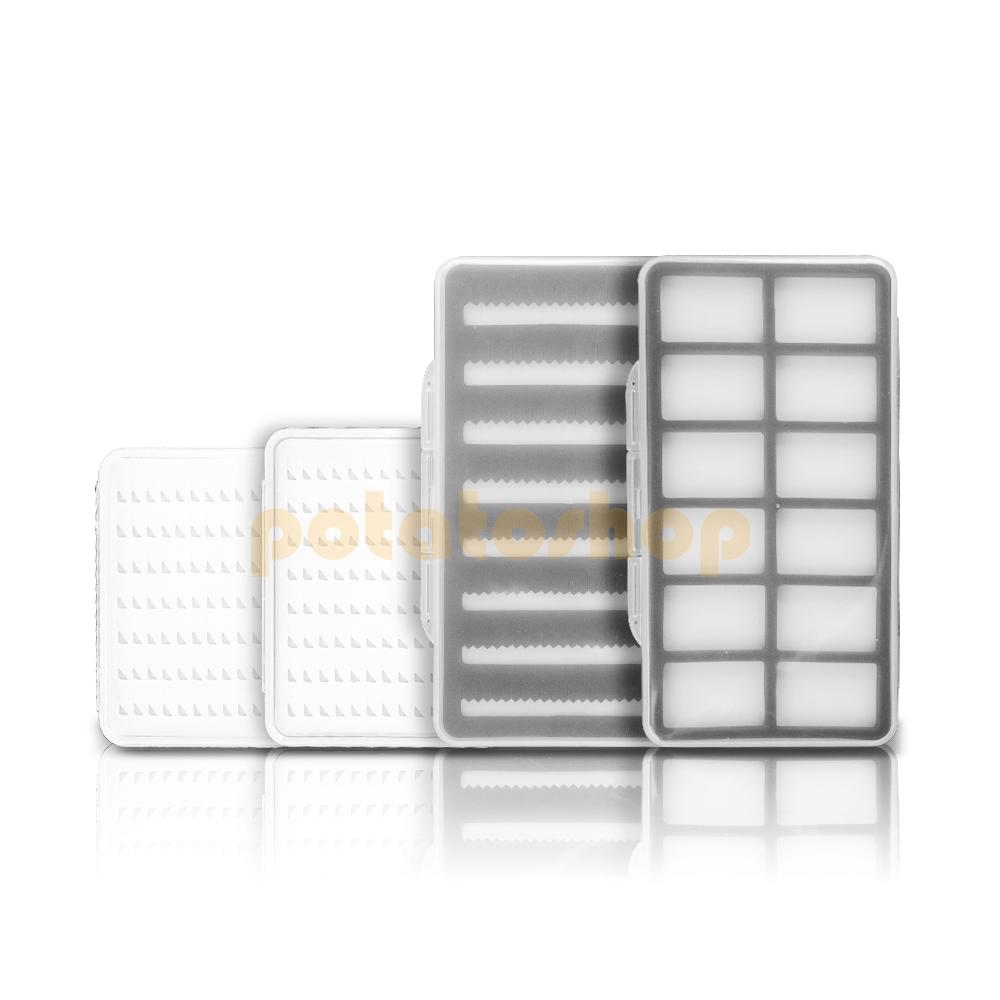 Waterproof Easy Grip//Slit Foam Fly Fishing Box Clear Lid Flies Drying Box