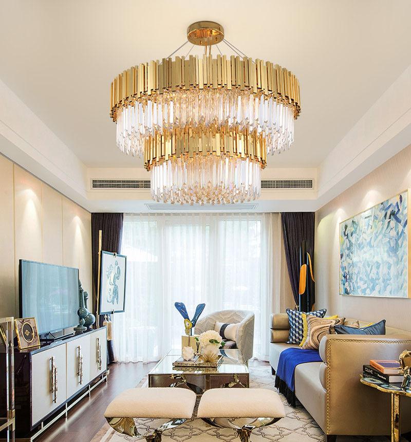 f/ür Schlafzimmer Wohnzimmer 14W OUKANING Modern Kristall Kronleuchter LED Acryl Dimmbar RGBW Farbwechsel Licht Kristall Deckenleuchte mit Fernbedienung