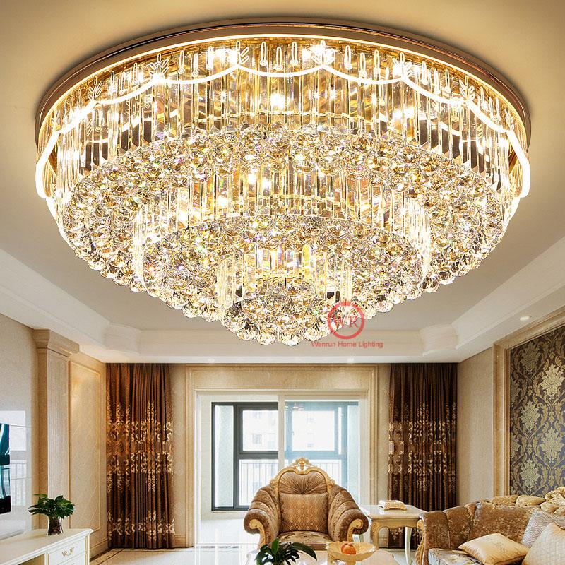 LED-Wohnzimmer-K9-Kristall-Haengelampe-Luester-Leuchte-Kronleuchter-Deckenleuchte
