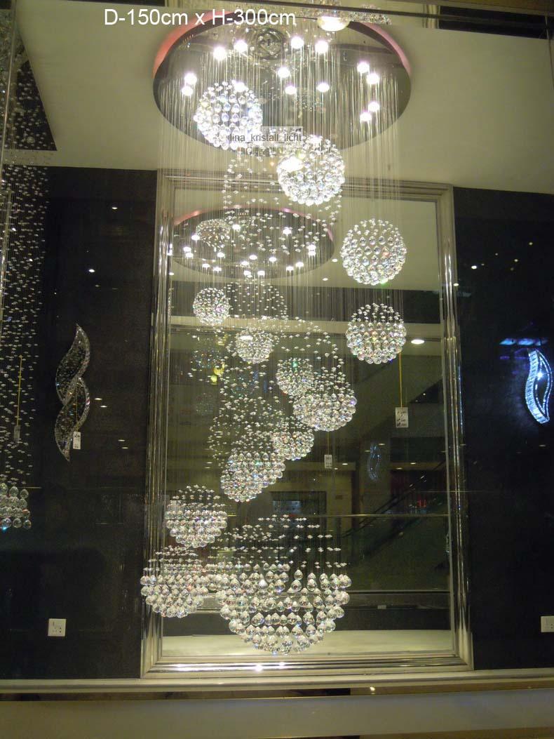 Led kristall kronleuchter deckenleuchte lüster leuchte deckenlampe ...