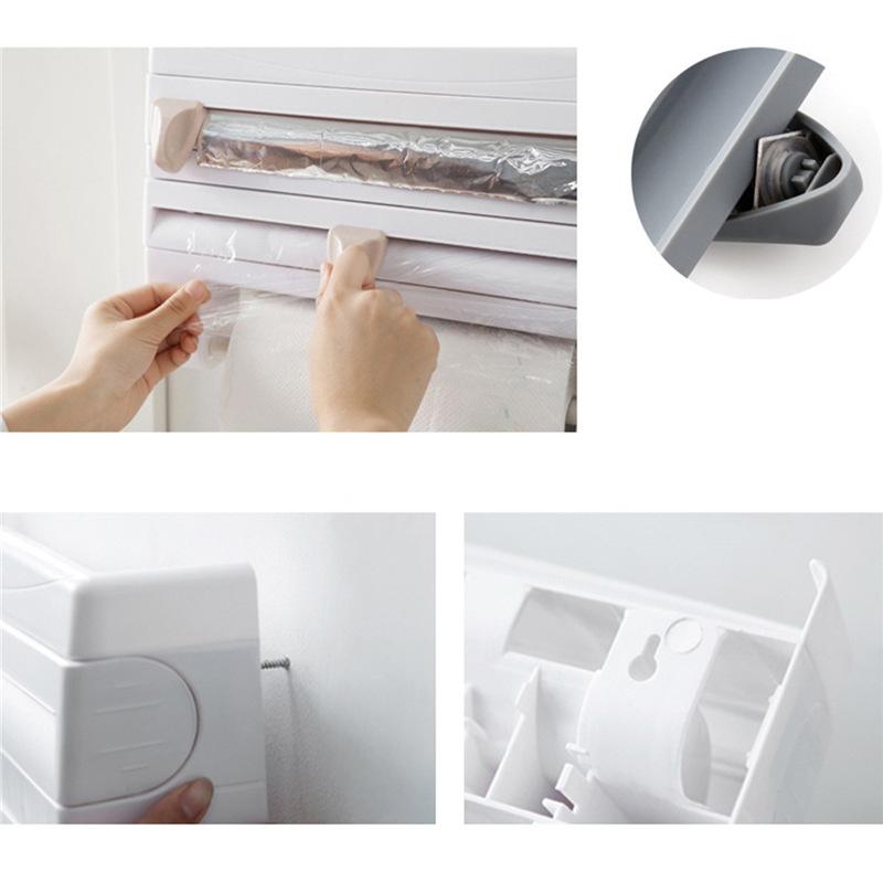 Plastic Wall Mounted Wrap Foil Dispenser E Sauce Rack Paper