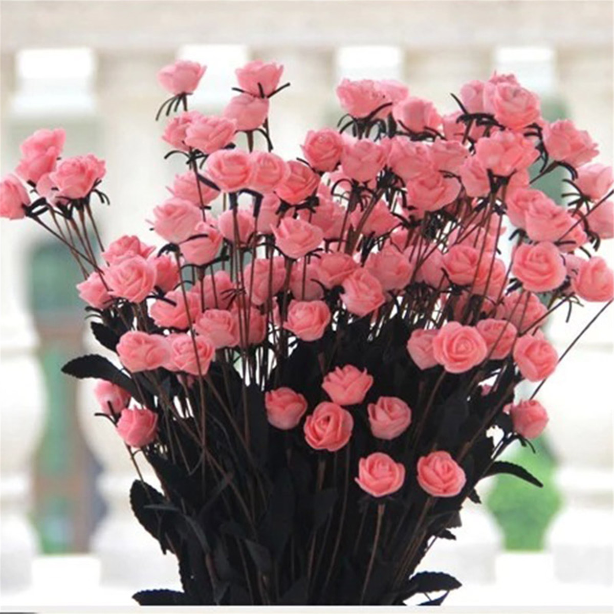 15 Pcs Artificial Roses Bouquet Flower for Home Wedding Office Party ...